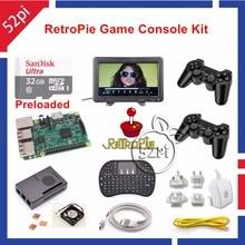 Raspberry Pi 3 32 ГБ RetroPie Игры Комплект с Беспроводной Контроллер Геймпад Джойстик и 10.1 дюймов 1366*768 ЖК монитор
