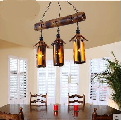 Hot Top Chinese Porcelain Bamboo Pendant Light American Style Creative Creative Lollipop Bar Light Cafe Light LU725233 new arrival modern chinese style bamboo wool lamps rustic bamboo pendant light 3015 free shipping
