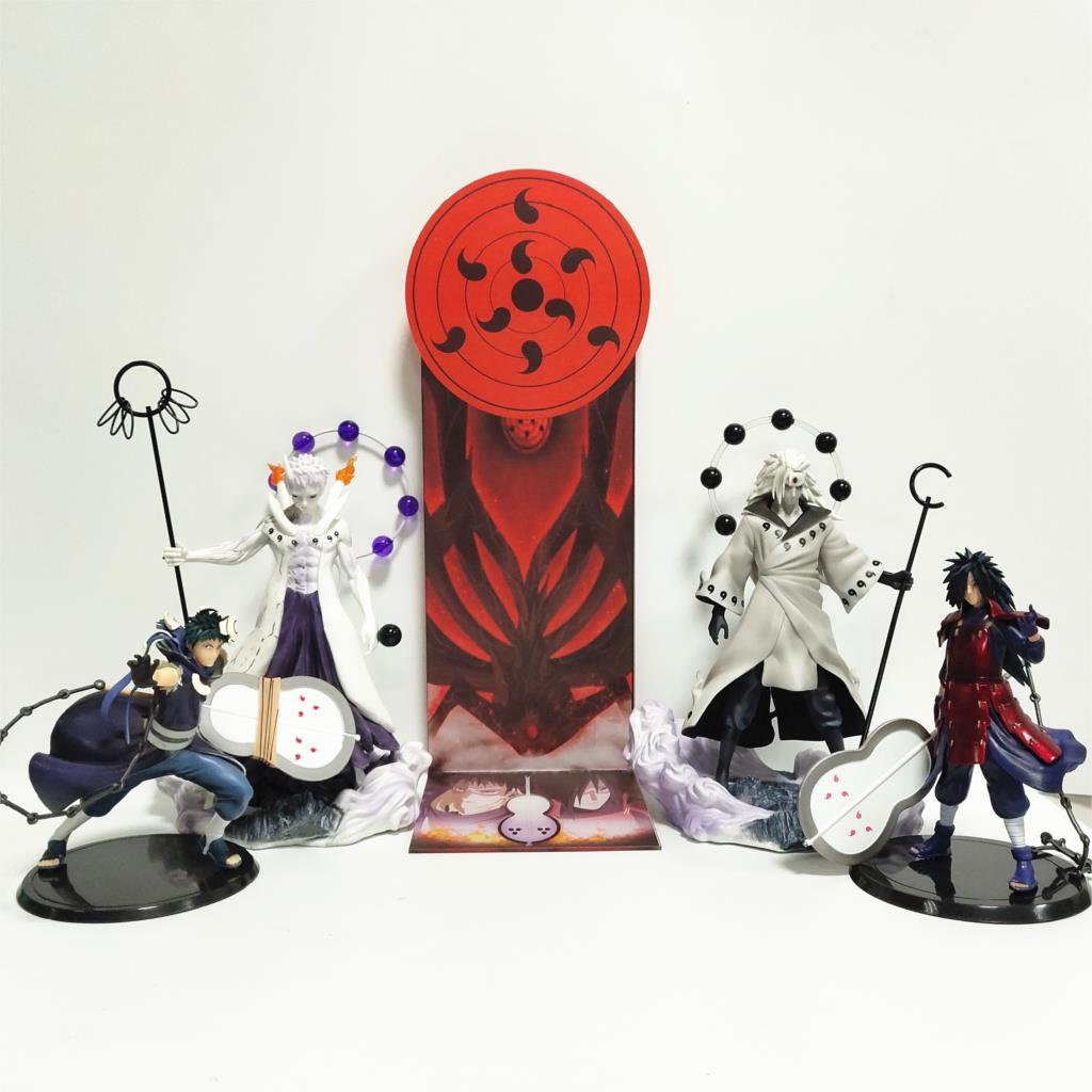 Naruto Figure Uchiha Obito Madara PVC Model Toy Figurine Nartuo Action Figure Shippuden Madara Moon Plan Base Collection Toys