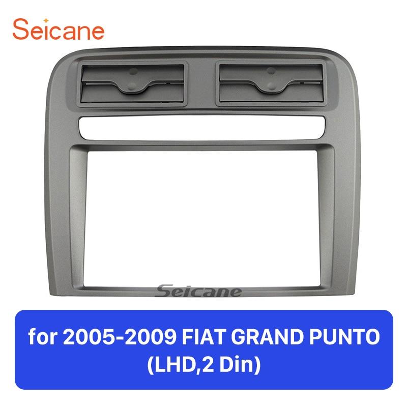 Seicane 2 DIN Car Radio Fascia Audio Frame For 2005 2006 2007 2008 2009 FIAT GRAND PUNTO LHD Installation Kit Dash Bezel-in Fascias from Automobiles & Motorcycles    1