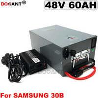 Für Samsung ICR18650-30B 48 V 60AH Elektrische Fahrrad Batterie 3000 W E-bike Lithium-ionen Batterie 13 S 48 V + 5A Ladegerät mit einem metall box