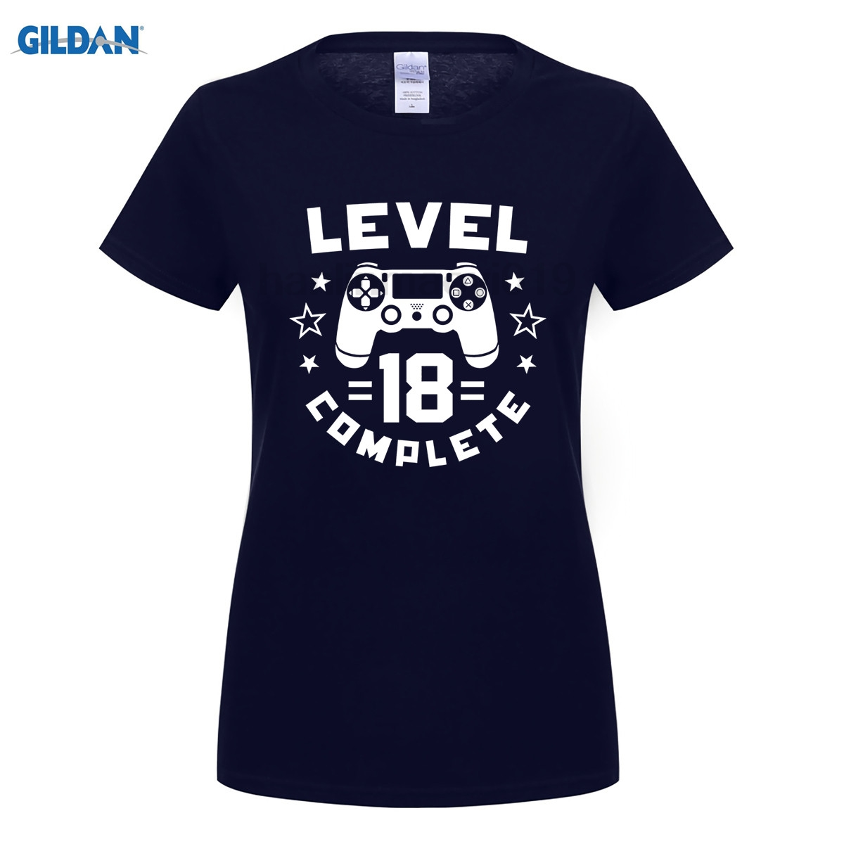 GILDAN Level 18 Complete Video Gamer Geek Boys 18th Birthday Shirt Latest Fun T-shirt Top Casual Wear