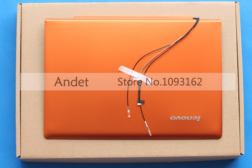 New Original for Lenovo IdeaPad U330P U330 NO Touch LCD Rear Lid Back Cover Orange LZ5 90203125 3CLZ5LCLV70 new original orange for lenovo u330 u330p u330t touch bottom lower case base cover lz5 grey 90203121