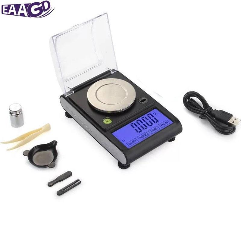 0.001g précision tactile LCD électronique bijoux balances 50g/0.001 diamant or germe médicinal poche numérique Balance de pesage
