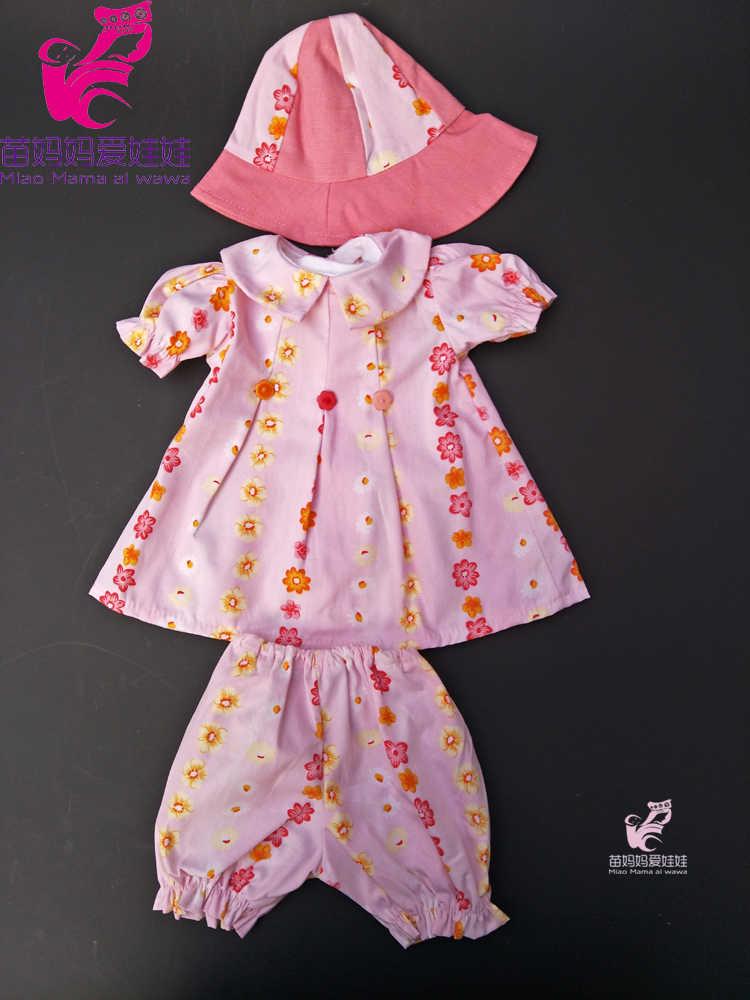 """18 """"Bayi Baru Lahir Boneka Putri Gaun dan Topi Cocok untuk 18 Inch Boneka Gadis Pakaian Set Gadis Liburan gaun"""