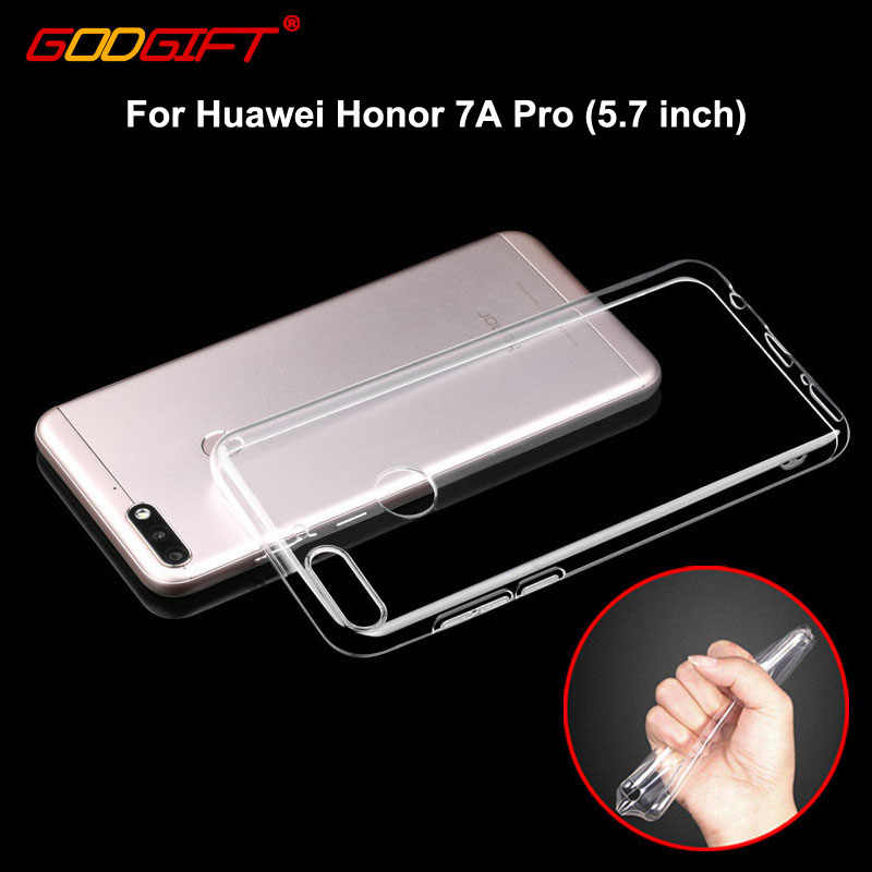 GodGift 5.7 inch Huawei Honor 7A Pro Case Luxe Huawei Honor 7A Transparant Siliconen Cover Voor Huawei Honor 7 EEN pro Telefoon Gevallen