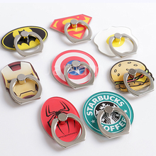 Universal socket phone Stand bracket airbag Expanding stretch grip Holder Finger Cute cartoon stand car ring