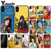 Yinuoda Billie Eilish Music Singer Star Novelty Phone Case Cover for Apple iPhone 8 7 6 6S Plus X XS MAX 5 5S SE XR Mobile Cases yinuoda animals dogs dachshund soft tpu phone case for apple iphone 8 7 6 6s plus x xs max 5 5s se xr mobile cover