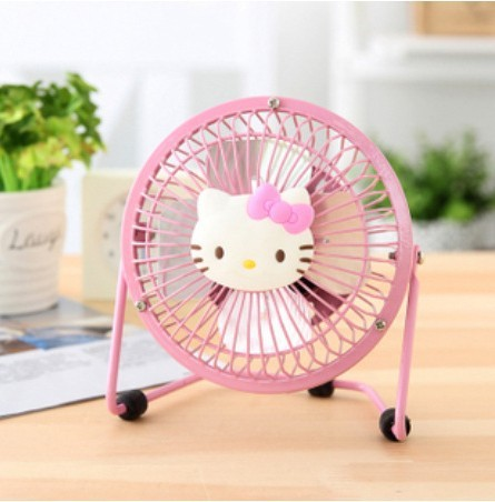 Hello Kitty Ful Mini Usb Ceiling Fan Ventilator Portable Car Home Office Air Conditioner Desk Table Standing Fans Free Ship