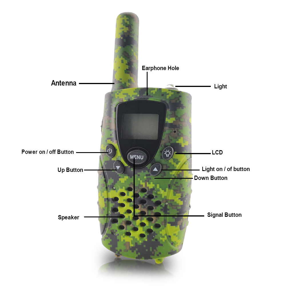 Image 4 - Portable Mini Kids Walkie Talkie PMR446MHZ 8/22CH Two way Radio LCD Display Fashlight with USB Charing jack for Children Gifts-in Walkie Talkie from Cellphones & Telecommunications