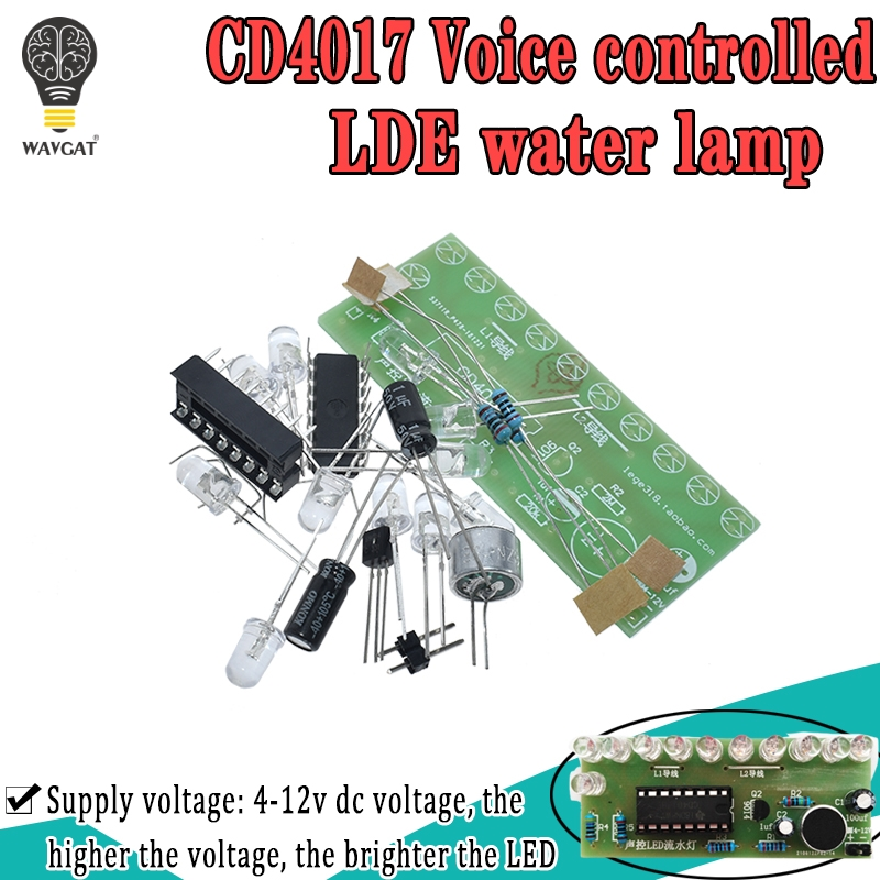 Voice activated LED Water Light Kit CD4017 Lantern Control Fun Electronic Production Teaching Training Diy Electronic Kit Module|Integrated Circuits|   - AliExpress