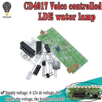 Voice activated LED Water Light Kit CD4017 Lantern Control Fun Electronic Production Teaching Training Diy Module - discount item  7% OFF Active Components