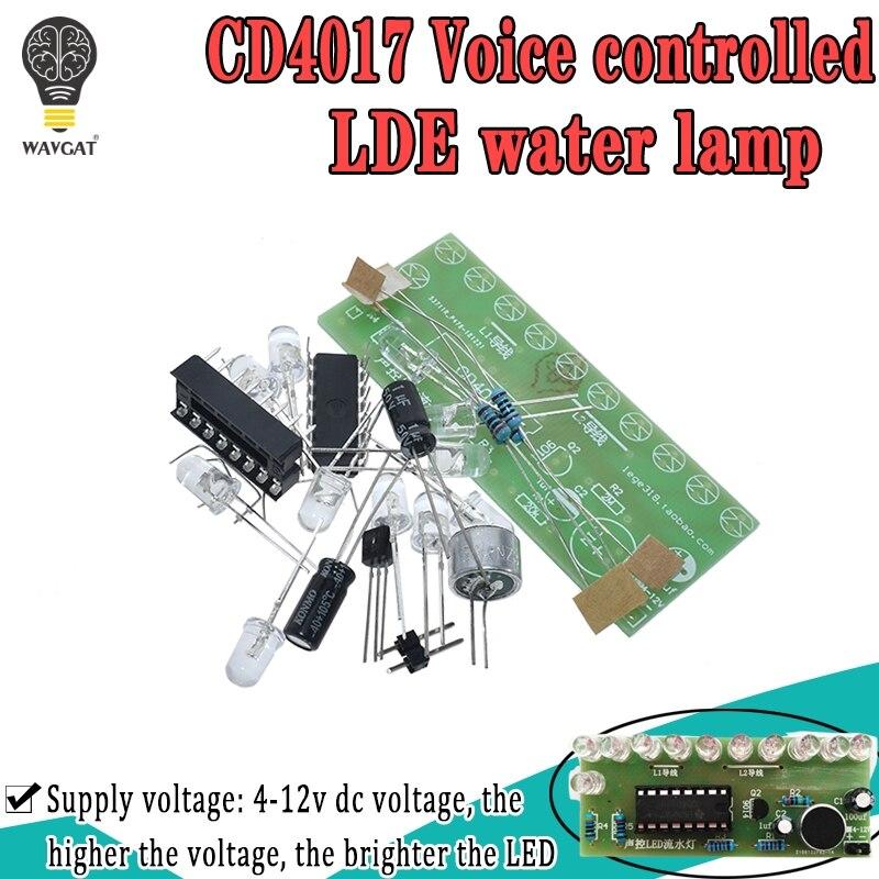 Voice activated LED Water Light Kit CD4017 Lantern Control Fun Electronic Production Teaching Training Diy Electronic Kit Module