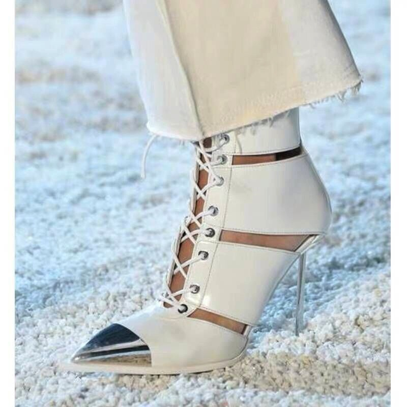brand shoes summer ankle boots black sandals women pumps sexy high heels genuine leather ladies casual dress gladiator sandals