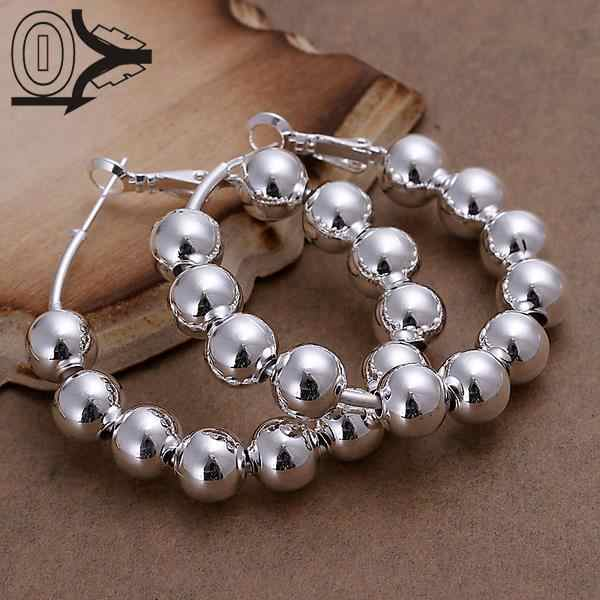Wholesale Silver Plated Earring,Wedding Jewelry Accessories,Fashion 8M Beads Ball Silver Women Earrings