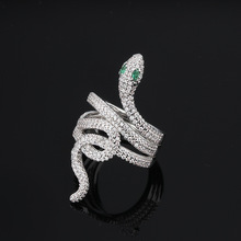 فاخر الأفعى الصليب لف الزركون خواتم للنساء إنفينيتي خواتم هدايا تصميم فريد مجوهرات الأزياء Anel Feminino ZK40