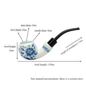 Image 5 - Ceramiczna fajka do tytoniu + rura ceramiczna stojak lub stojak na palisander 9 mm filtry papierowe acrylic Stem AK0003 8