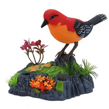 Toy Pet-Toys Birds Singing-Chirping Sounds Electronic Voice-Control Baby Realistic Kids