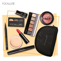 Focallure makeup tool kit 8 pcs must have cosmetics including lipstick shade with makeup bag