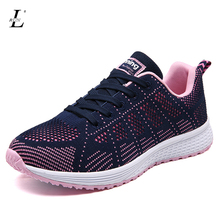 Running Shoes New Light Weight Mesh Sports Shoes and Trendly Jogging Sneakers for woman Autumn Flat Walking Trend Shoes