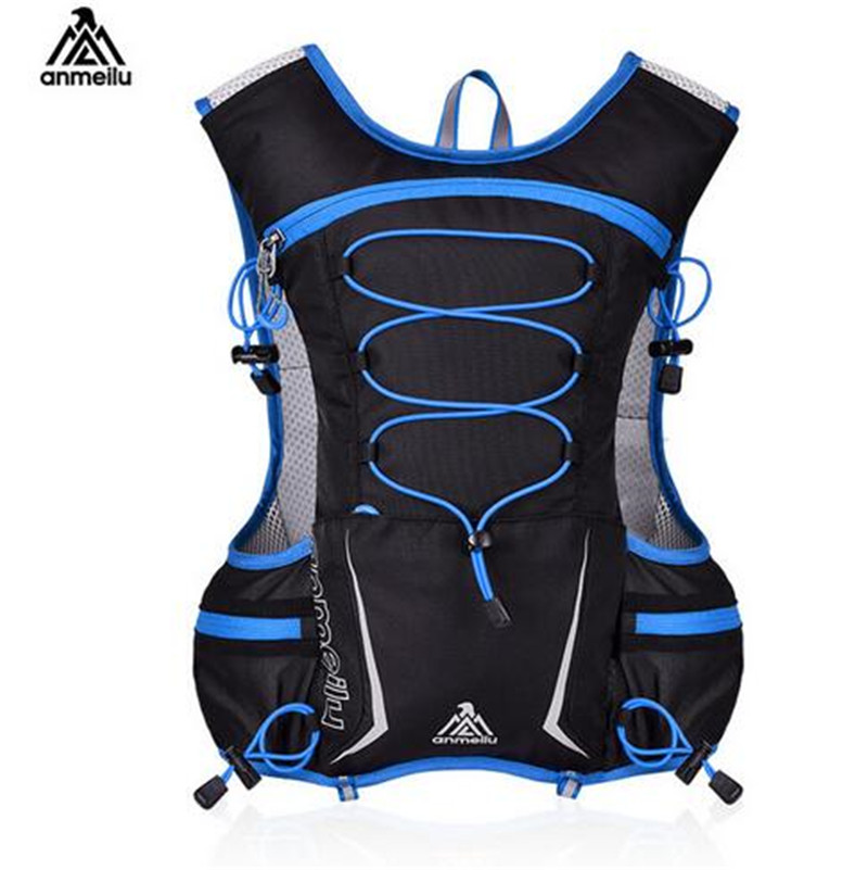 ANMEILU 5L Running Bag Backpack Hydration Bag Outdoor Sport Bag Vest Super Light For Cycling Climbing Camping Hiking Running