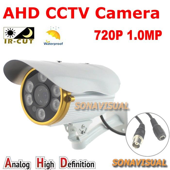 ФОТО High quality! 6pcs array leds Day night vision AHD Camera 1/4''CMOS Sensor 720P Outdoor IRCUT Filter waterproof 1.0MP AHD Camera