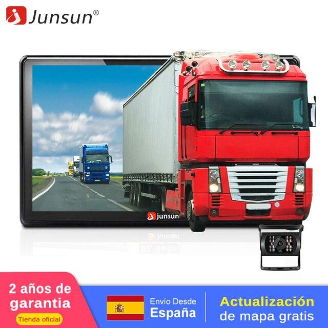 Junsun 7 pouces voiture GPS Navigation écran capacitif Bluetooth av-in FM construit en 8GB WinCE 6.0 carte pour Europe maison voiture