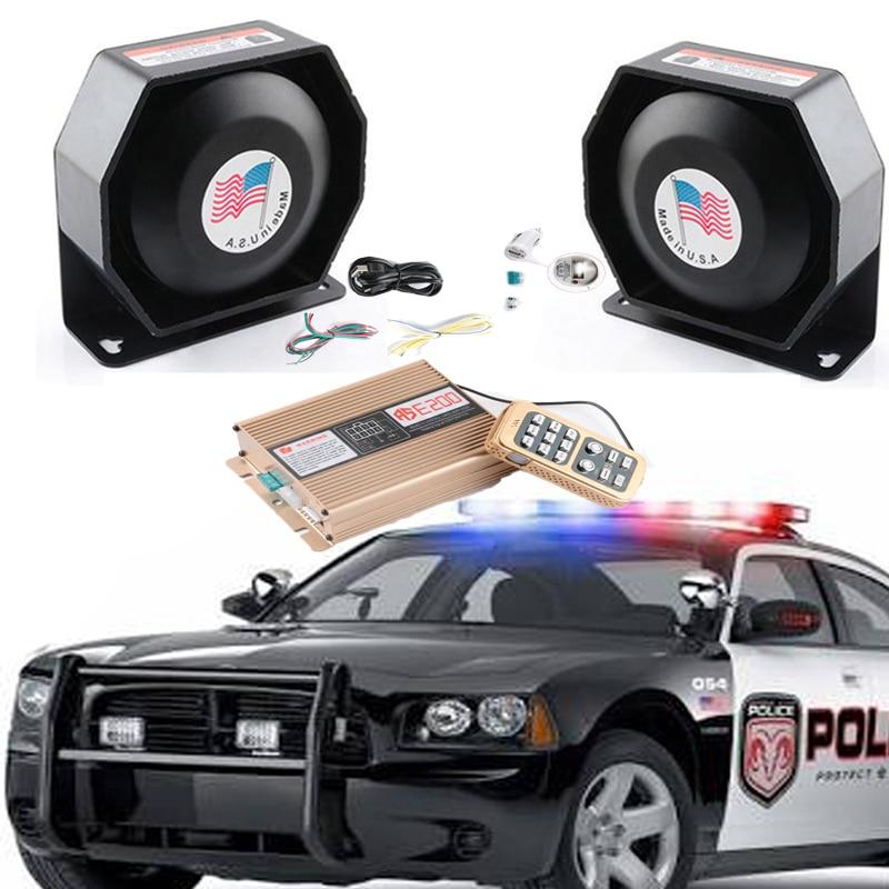 LARATH 200W 12V speaker horn for Emergency car truck 8 Sound extra thin Loud Speaker Tweeter 120-130dB Black PA System