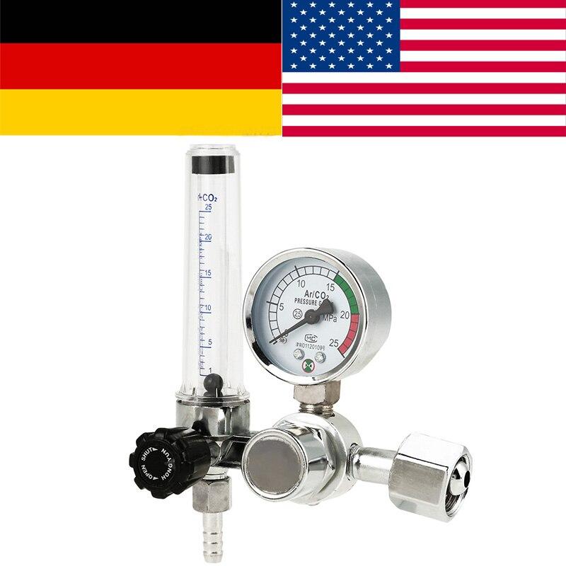 0-25 Mpa Argon CO2 Mig Flow Meter Gas Regulator Flowmeter Welding Gauge
