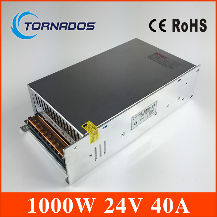 блок питания 24в 40а - Single Output DC24V 40A 1000W Switching Power Supply AC DC 24V Converter Voltage Transformer SMPS for LED Strip light S-1000-24