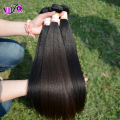 Ali pop Grade 7A Mongolian remy hair kinky straight 3bundles hair weave italian light yaki hair weave natural relaxed for women