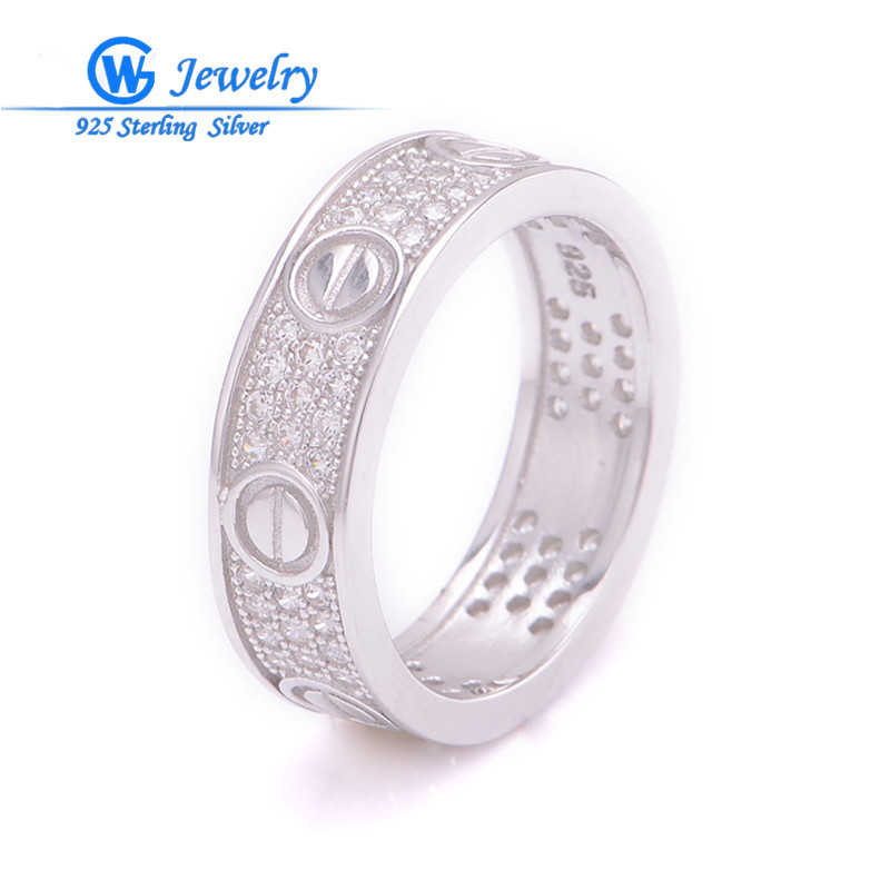 GW Fashion Jewellry 100% Natural Pearl Rings White Fashion Freshwater Pearl S925 Silver Engagement Wedding Ring ...