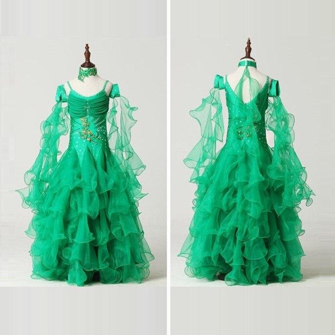 modern dance costumes for kids ballroom dancing girls ballroom standard dance dress for girls ballroom dance competition dress