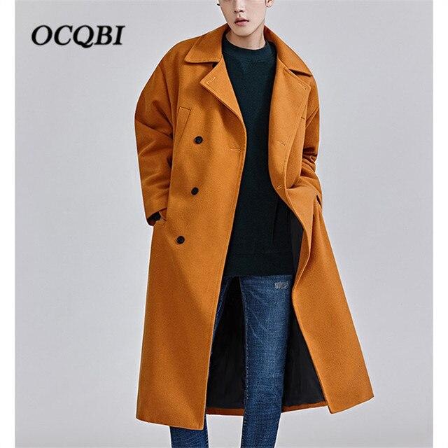 Плюс размеры 2018 корейский стиль свободные мужские пальто для будущих мам модные зимние платье пальто мужской кошелек