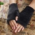 Hot Marketing Winter Autumn Thick Warm Gloves Keyboard Leak Finger Gloves Female Fingerless Gloves H18