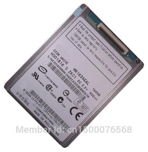 NEW MK1634GAL 1.8inch ce/zif 160GB Hard Drive For iPod Classic 3Gen 160GB HDD Internal Hard Drives 1 8 160gb ssd ce zif pata replace mk1634gal 160gb 1 8 ce zif hdd hard disk drive for ipod classic 7th a1238