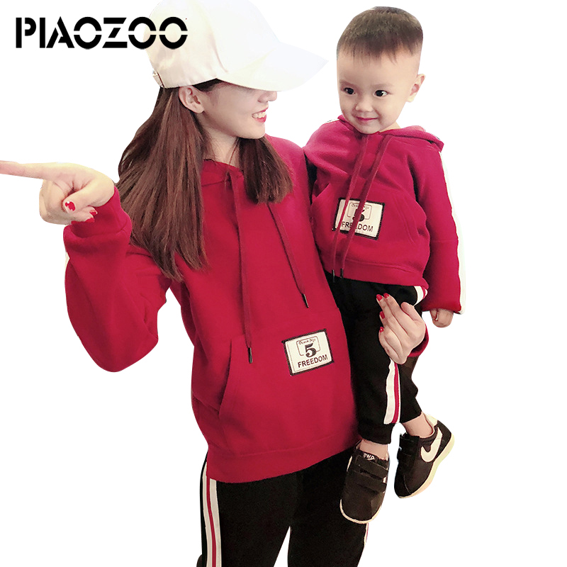 Bambin enfants bébé fille hiver chaud vêtements épais famille sweat vêtements maman et son hiver ensemble famille correspondant vêtements P20
