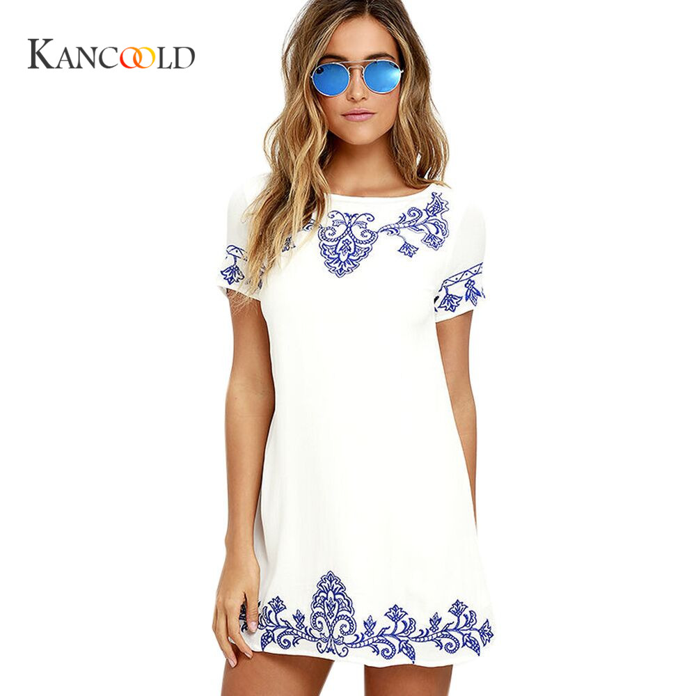KANCOOLD 2017 Casual Kleider fur Frauen Damen Multicolor Floral ...
