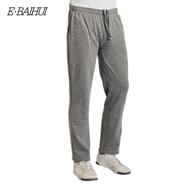 E-BAIHUI brand  men's season sweatpants male cotton casual  pants menswear thickening warm pants men long  pants WK004
