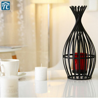 Candlestick Wrought Iron Retro Ornament Decoration Candle Holder European Wind Lamp Candles Stand Wedding Birdcage Romantic