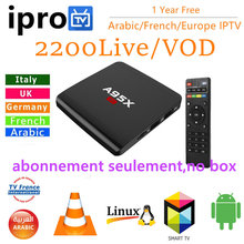 1 Year IPROTV IPTV Subscription French Arabic IPTV 2400+ Live / VOD for Smart Androd TV Box Smart tv M3u Apk Support EPG(China)