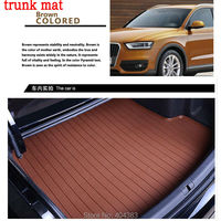 car trunk mat for Kia Sorento Sportage Optima K5 Forte Rio/K2 Cerato K3 Carens Soul a leather 3D carstyling carpet cargo liner