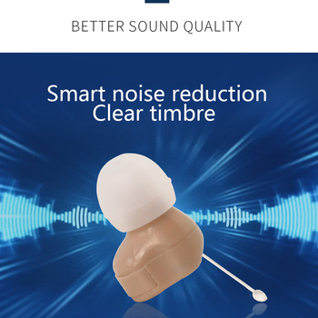 Micro Ear Hearing Aid Mini ITC Wireless Hearing Aid For Elderly For Right/Left Ear Best Sound Amplifier Invisible Hearing Device