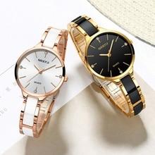 NIBOSI ceramiczne Relogio Feminino marki luksusowe kobiety wodoodporny zegarek kwarcowy panie zegar kobiet sukienka kreatywnych kobiet zegarek na rękę