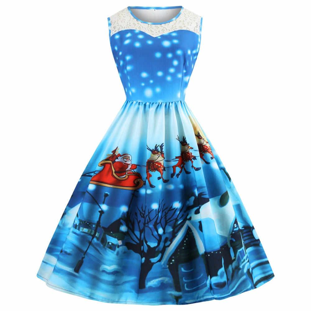 847335f2f1a Осень-зима Рождественский костюм платье с поясом женское платье  Рождественский новогоднее  рождественское Лось печатных