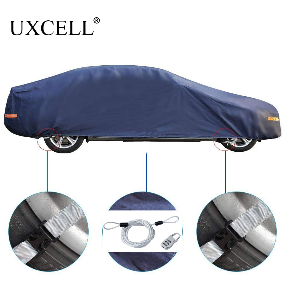 UXCELL Car Cover Breathable Full Protection Cover Outdoor Indoor Auto Covers Waterproof Dustproof Resistant Protector DHL Free