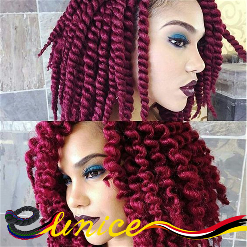 New Fashion Senegalese Braids 12inches Black Burgundy