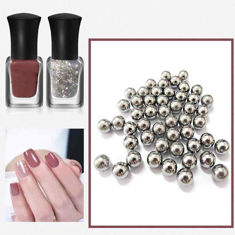 100pcs Nail Polish Mixing Balls 5mm Stainless Steel Beads Agitator for Glitter Polish Nail Art Tool