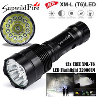 Super Bright 32000Lm 13x CREE XML T6 LED 5Mode 18650 Flashlight Torch Light Lamp 170509