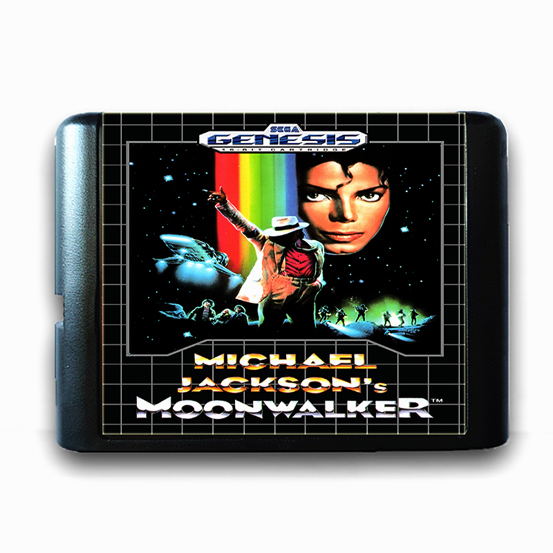 Micheal Jackson's Moonwalker for 16 bit Sega MD Game Card for Mega Drive for Genesis Video Game Console PAL USA JAP
